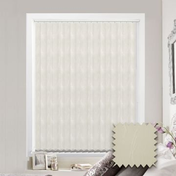 Made to measure vertical blind in Spirit Cream Fabric